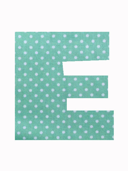 E - Green Polka Dot