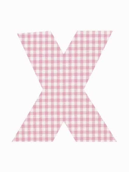 X - Pink Gingham