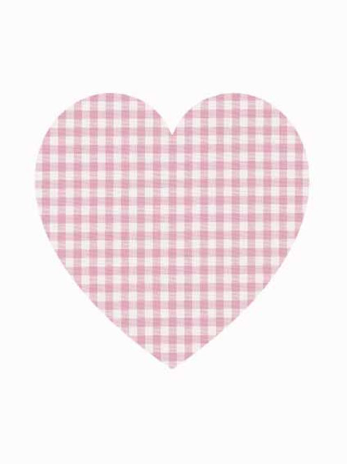 Heart - Pink Gingham