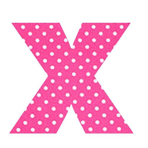 X - Pink Polka Dot