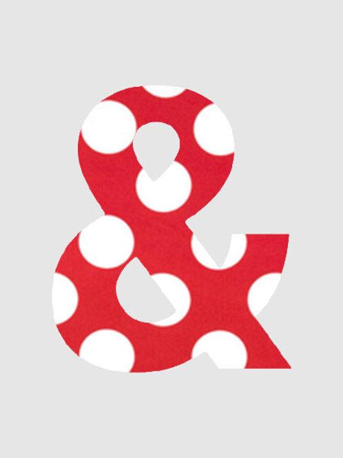 & - Red & White Polka Dot
