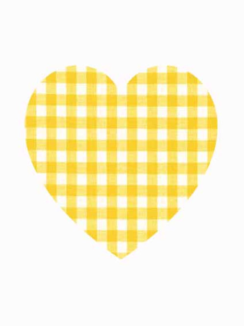 Heart - Yellow Gingham