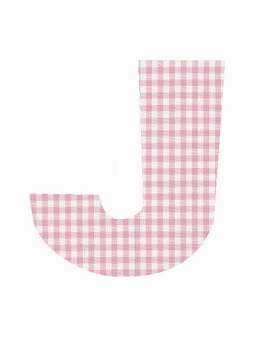 J - Pink Gingham