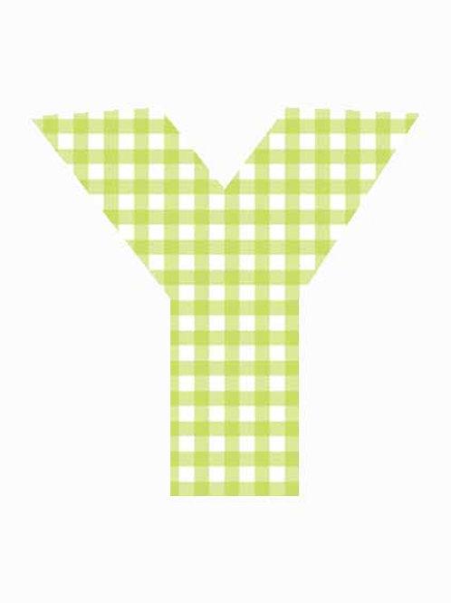Y - Green Gingham
