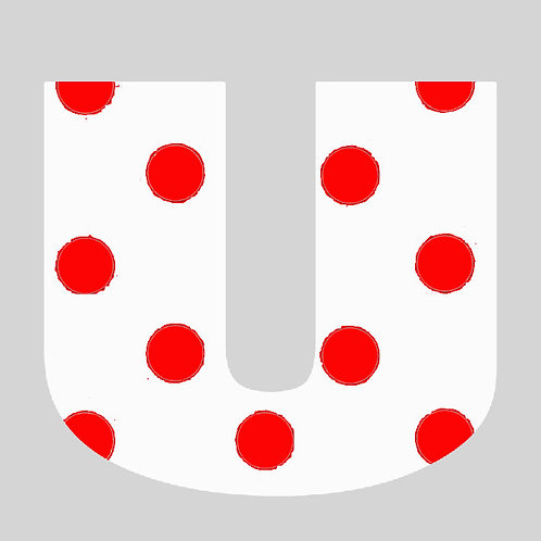 U - White & Red Polka Dot