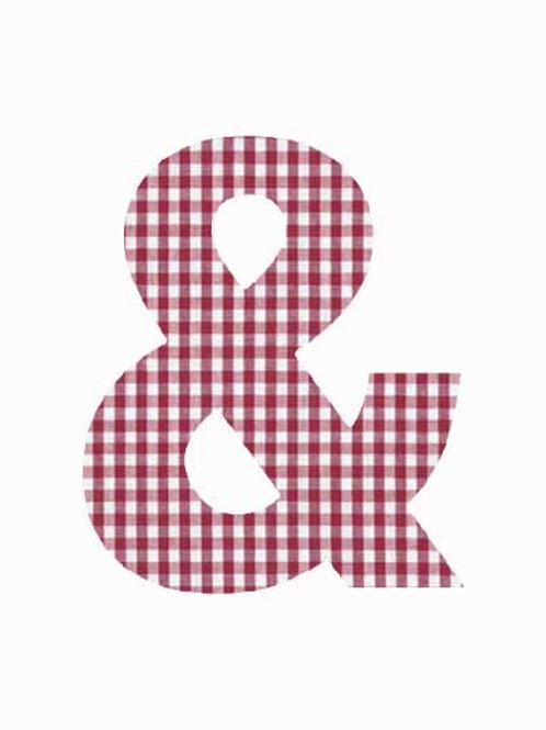 & - Red Gingham
