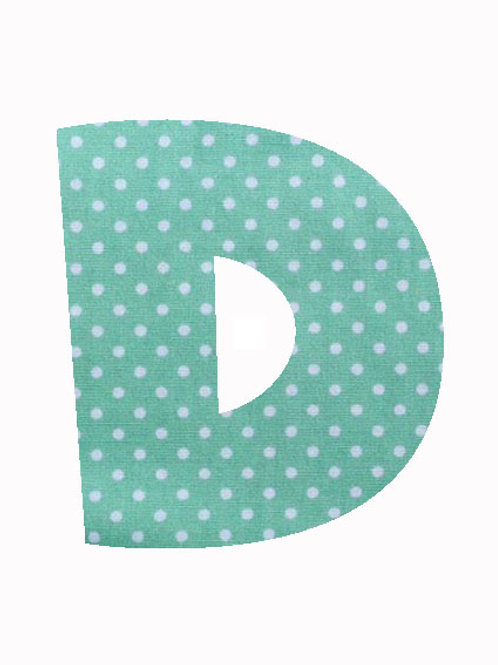 D - Green Polka Dot
