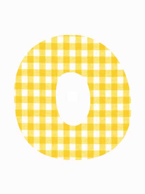 O - Yellow Gingham