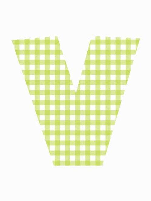 V - Green Gingham