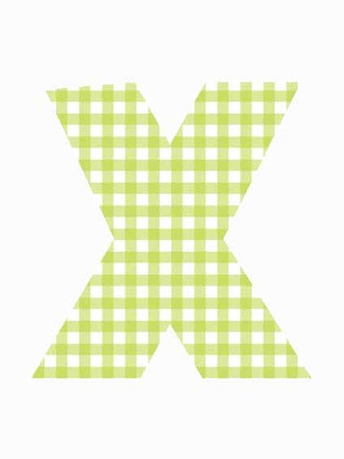X - Green Gingham