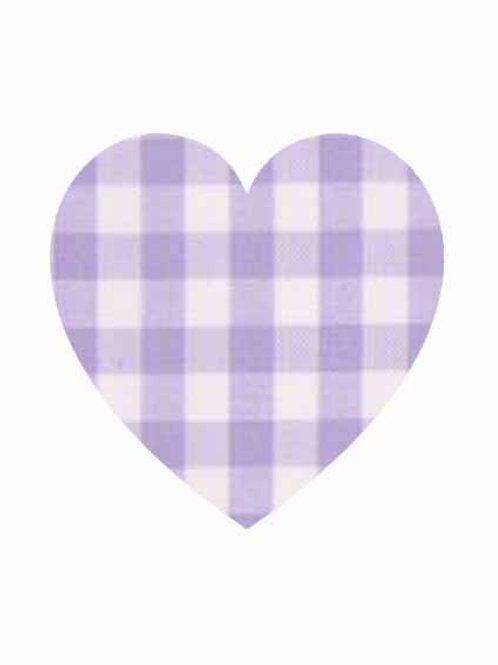 Heart - Lilac Gingham