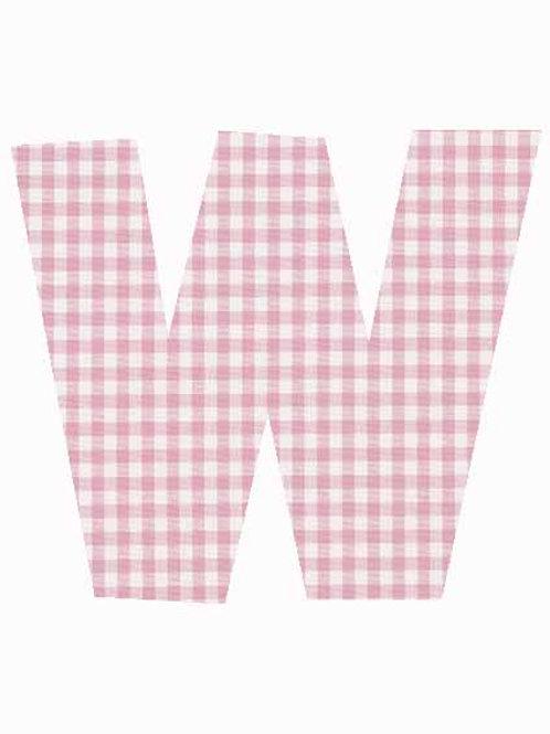 W - Pink Gingham