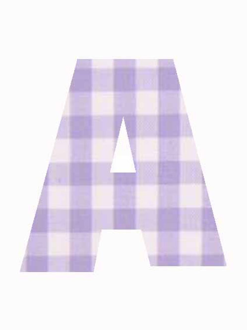 A - Lilac Gingham