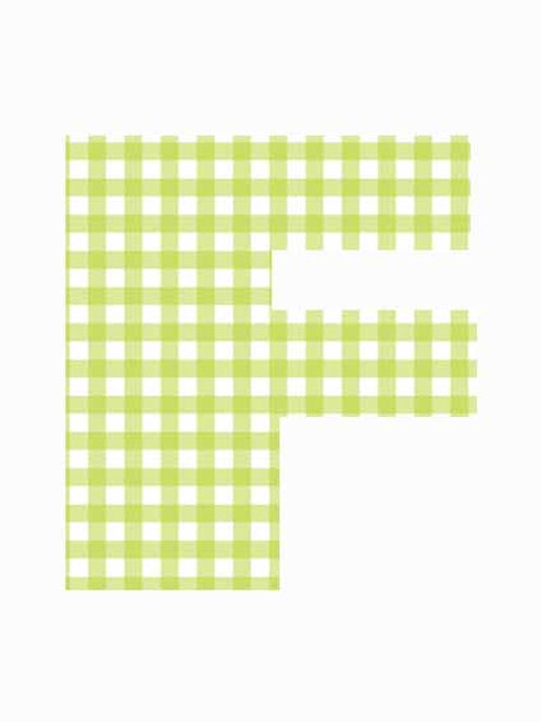 F - Green Gingham