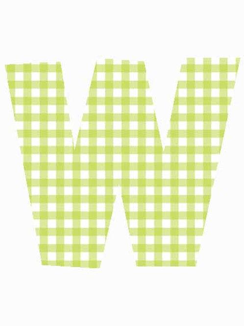 W - Green Gingham