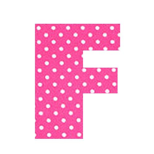 F - Pink Polka Dot
