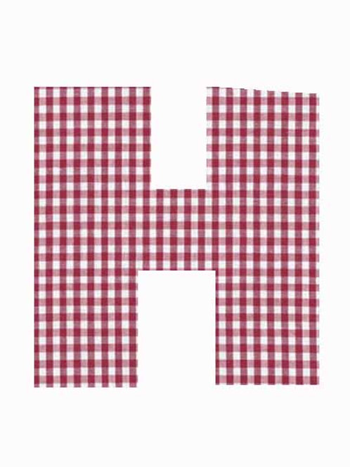 H - Red Gingham