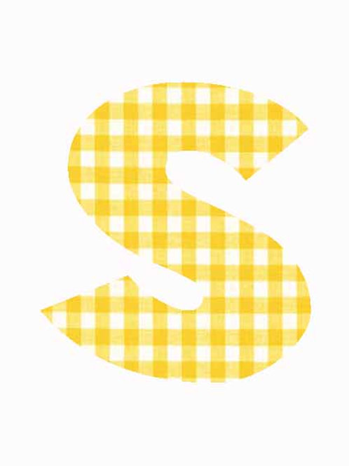 S - Yellow Gingham