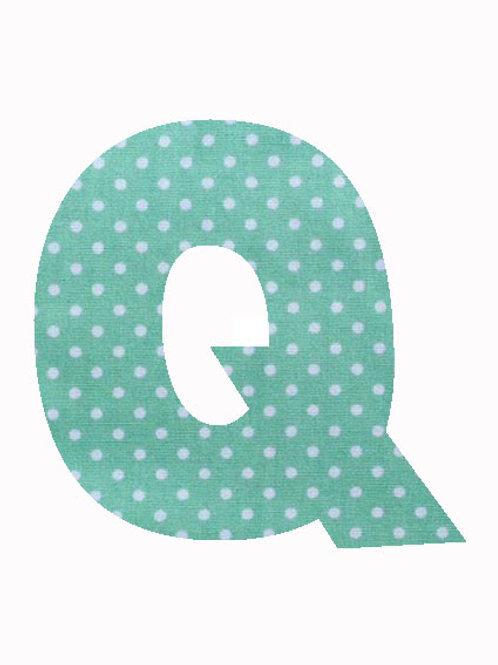 Q - Green Polka Dot