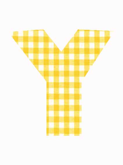 Y - Yellow Gingham