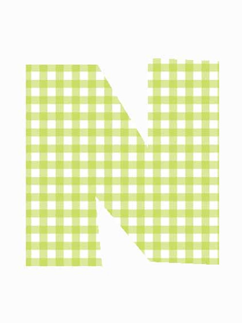 N - Green Gingham