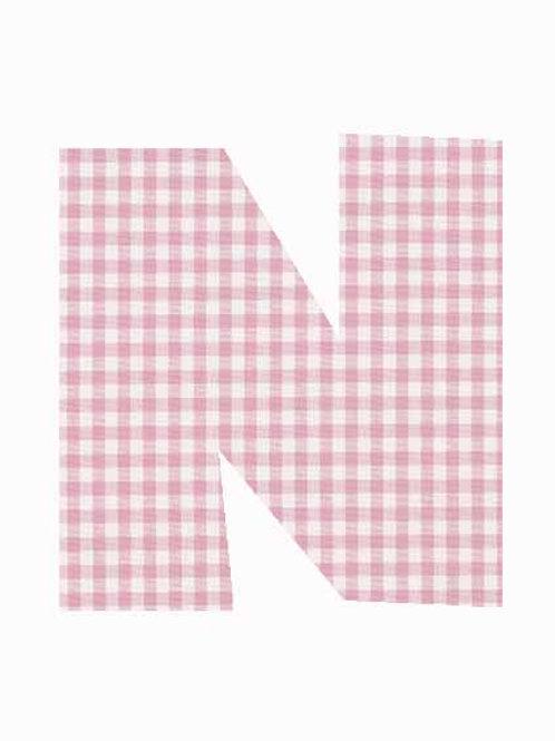 N - Pink Gingham