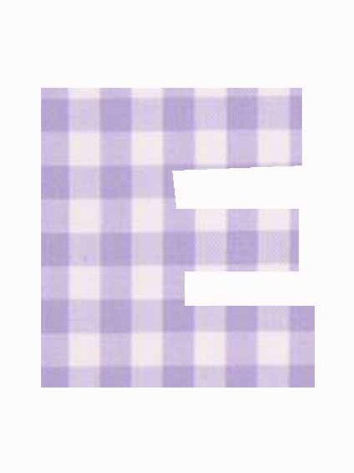 E - Lilac Gingham