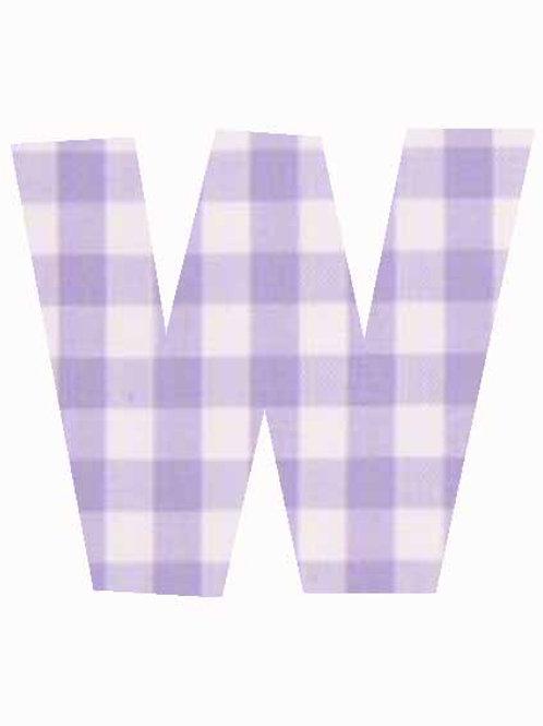 W - Lilac Gingham