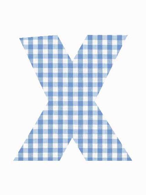 X - Blue Gingham