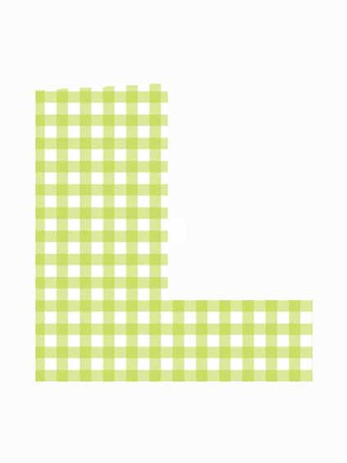 L - Green Gingham