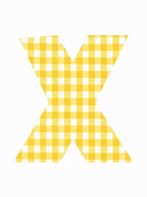 X - Yellow Gingham