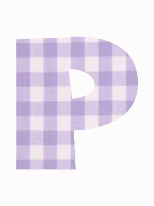 P - Lilac Gingham