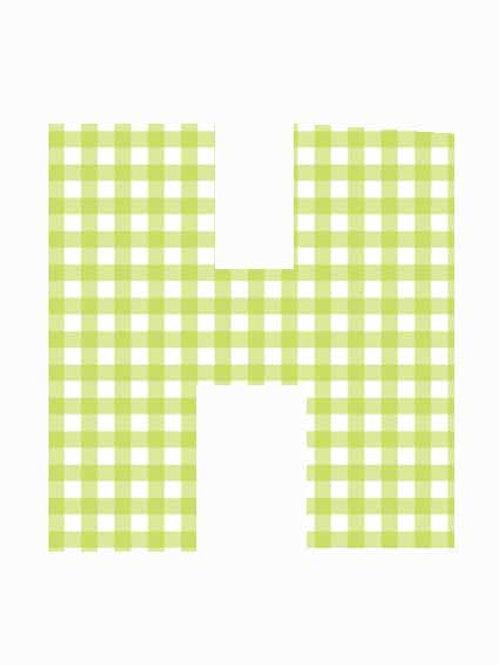 H - Green Gingham