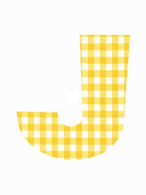J - Yellow Gingham