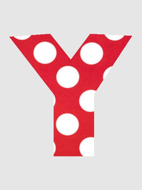 Y - Red & White Polka Dot