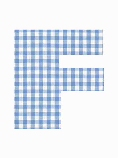 F - Blue Gingham