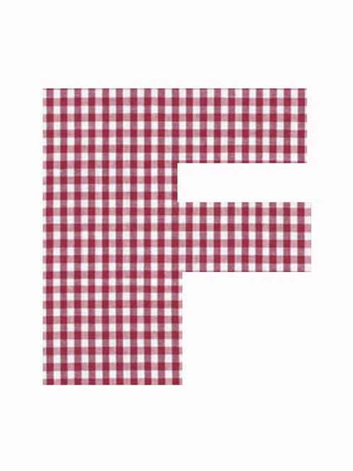 F - Red Gingham