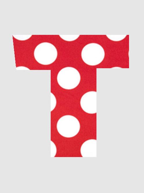 T - Red & White Polka Dot
