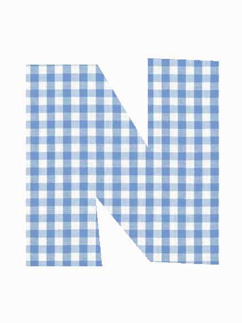 N - Blue Gingham