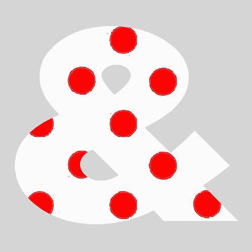 & - White & Red Polka Dot