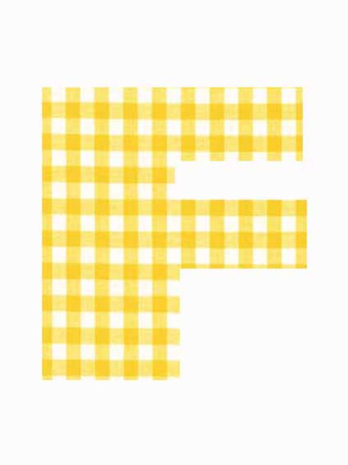 F - Yellow Gingham