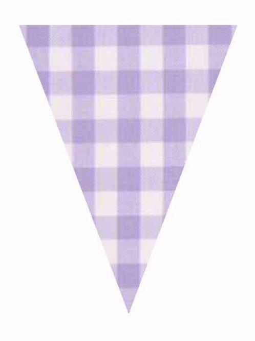 Flag - Lilac Gingham