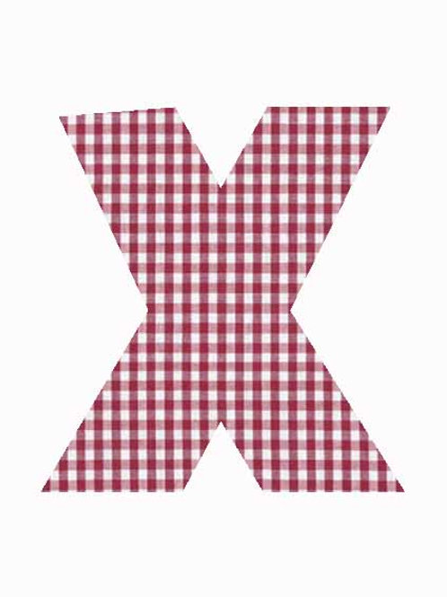 X - Red Gingham