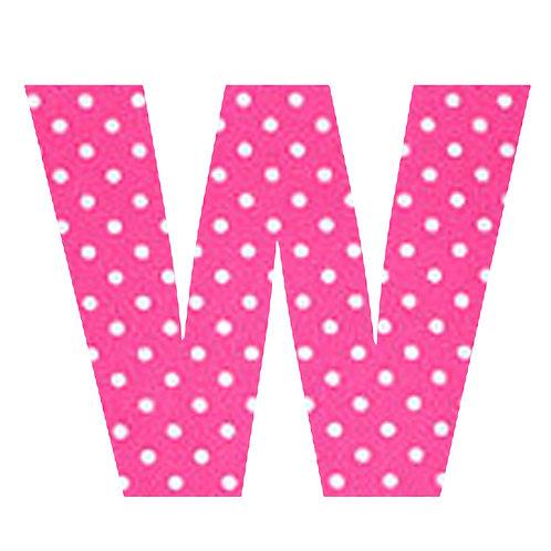 W - Pink Polka Dot