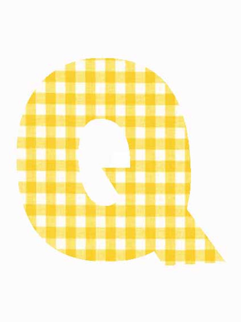 Q - Yellow Gingham