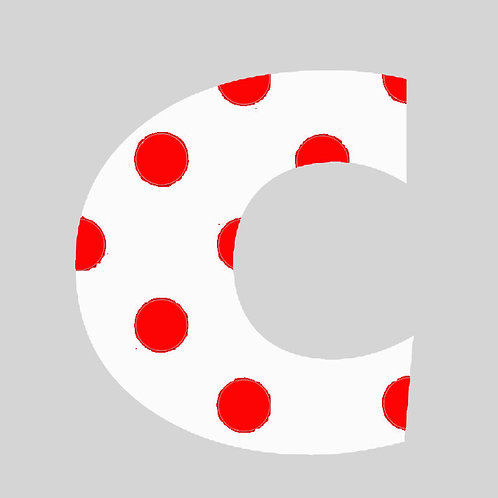 C - White & Red Polka Dot
