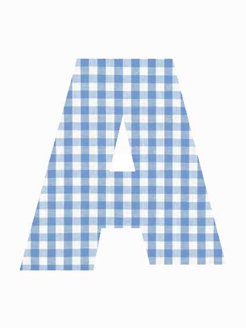 A - Blue Gingham