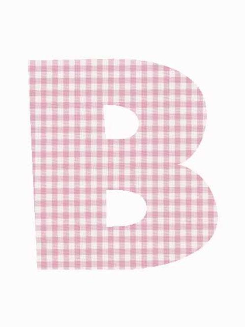 B - Pink Gingham