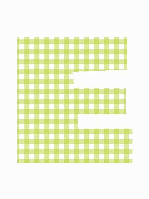 E - Green Gingham
