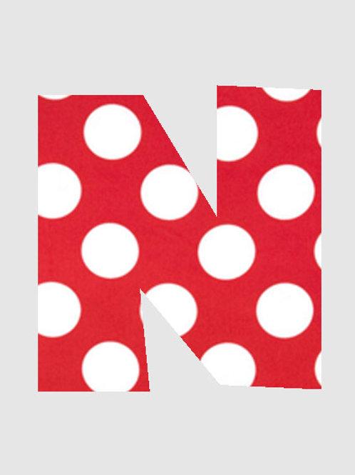 N - Red & White Polka Dot